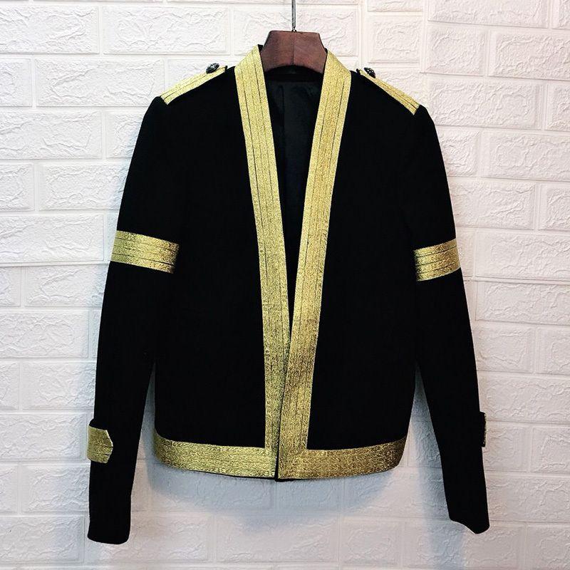 Men's Suits & Blazers Men Suit Coat Male Trend Hip-hop Man's Autumn Night Hairstyle Division Personality Loose Jacket Tide