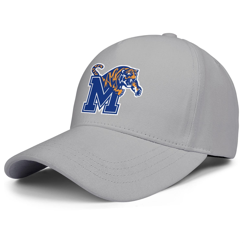 Memphis Tigers Basketball Logo Männer Frauen verstellbare Hysteresenkappen Mode Golf Hut Tarnung Core Smoke Homosexuell Stolz Regenbogen Kokosnuss