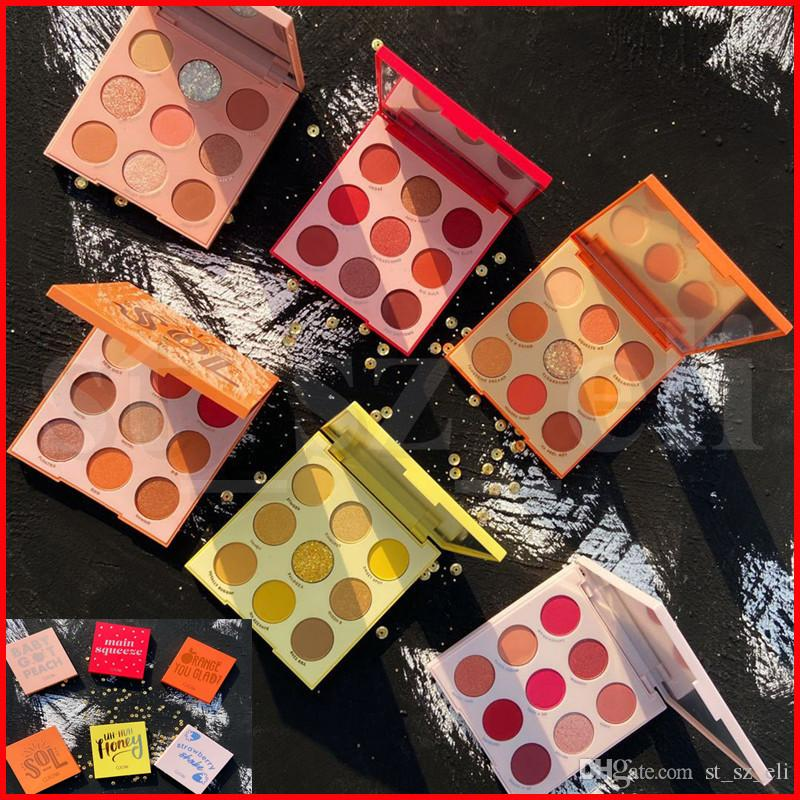 GUICAMI 9 Colors Baby Got Peach Glitter Fruit Eyeshadow Makeup Pallete Summer Shiny Diamond Pigmented Summer Eye Shadow Palette Cosmetic
