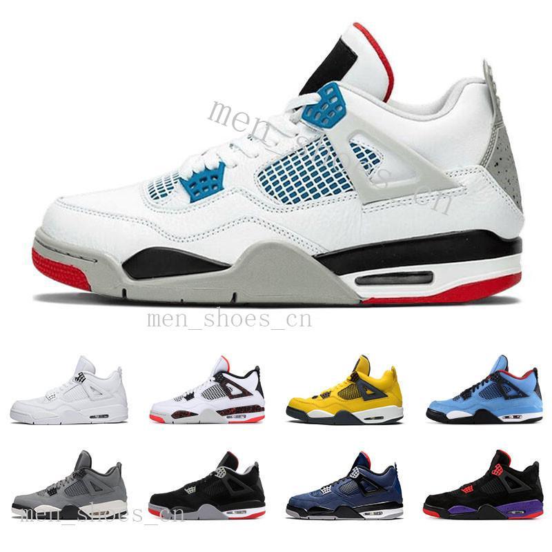 Nuevo 2020 Bred White Cement 4 4s Lo que el Cactus Jack Zapatos fresco gris para hombre del baloncesto 4s Concord puro dinero libre de las zapatillas de deporte de los hombres del deporte sixone