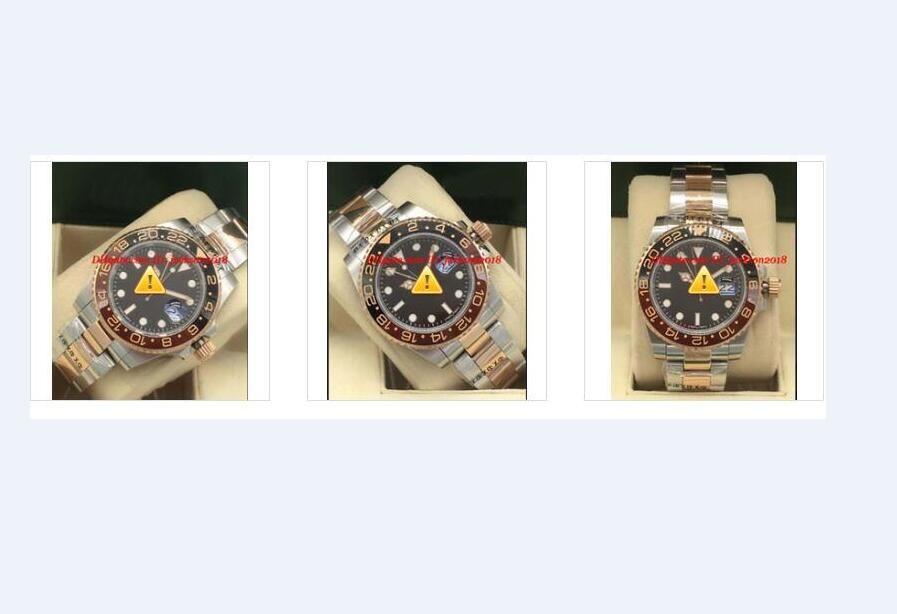 Assista Relógio de pulso relógios de luxo II 126711 Stahl / Rosegold Full Set 2020 Homens de New Ceramic Bezel Automatic Moda