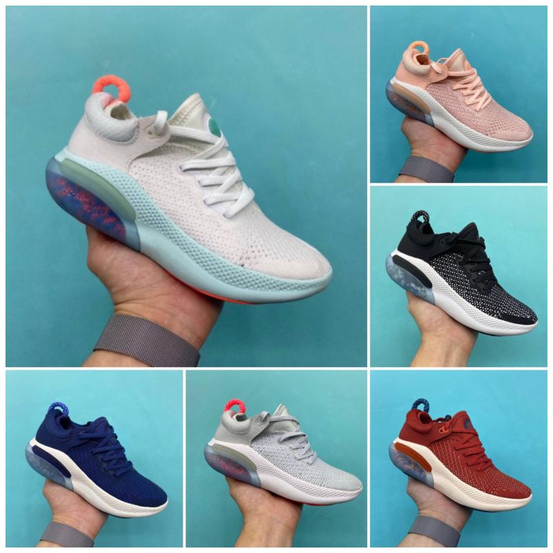 Nike JOYRIDE RUN FK 2020 zapatos corrientes de la versión para niños de Vela Negro Naranja Rojo Azul Universidad Volt formadores niños zapatillas de deporte