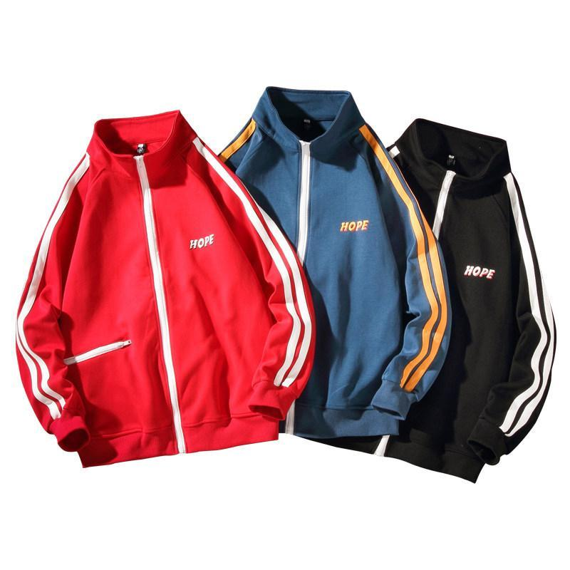 Spring Korean version of the trend of casual shirt new ins class service sweater Harbor wind baseball uniform sports jacket for men