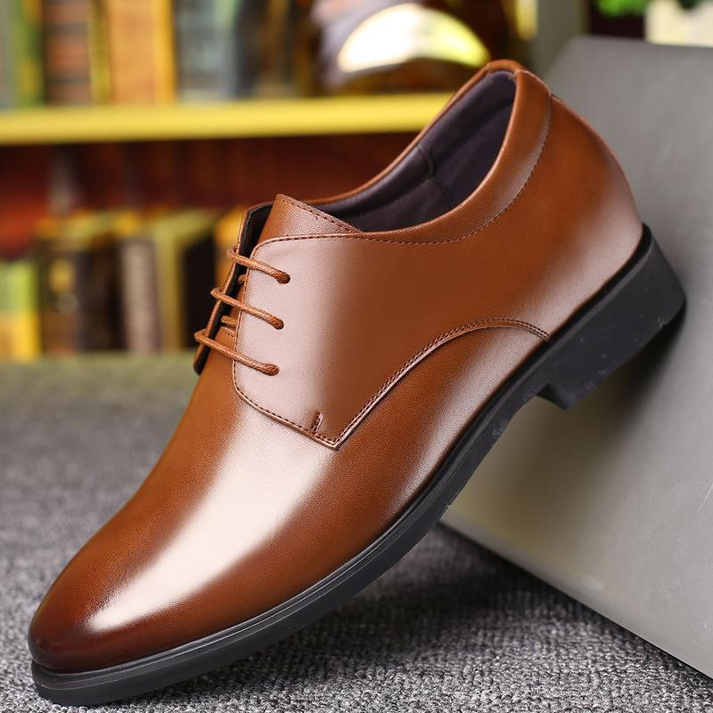 New Men's Shoes Spring and Autumn New Shoes Business Dress Large Size Leather England Shoes Men Dress Leather