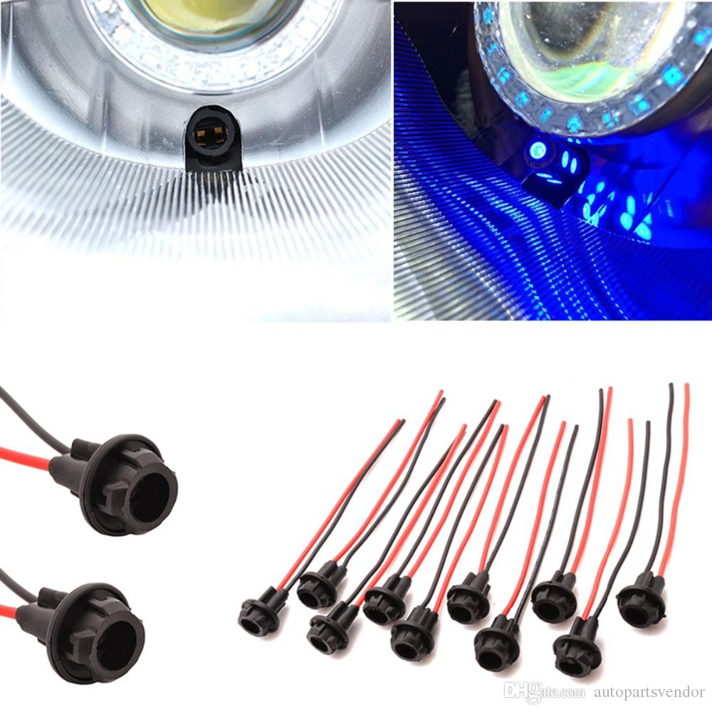New 10PCS Universal T10 Car Auto Socket Connector W5W 168 194 Extension LED Light Bulb Lamp Base Holder Accessories