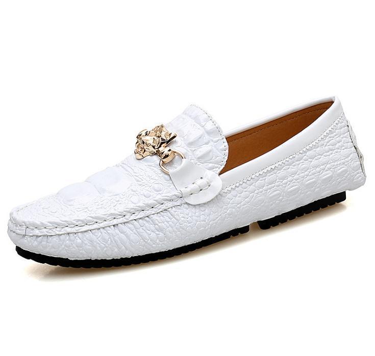 Hot Sale-scarpe da uomo in vera pelle di grandi dimensioni Mocassino ufficiali dolci scarpe grano mens camminata corsa scarpa casuale coccodrillo per gli uomini zy901