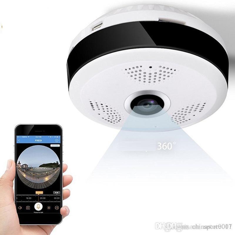 Wifi Mini caméra IP 360 degrés Accueil extérieur sans fil panoramique Wifi Caméra IP CCTV 2MP 960P Sécurité Vidéo Baby Monitor Cam
