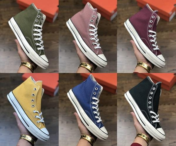 New men women high quality designer shoes Samsung standard ccddo All Stars 1970s vulcanized double tail canvas shoes