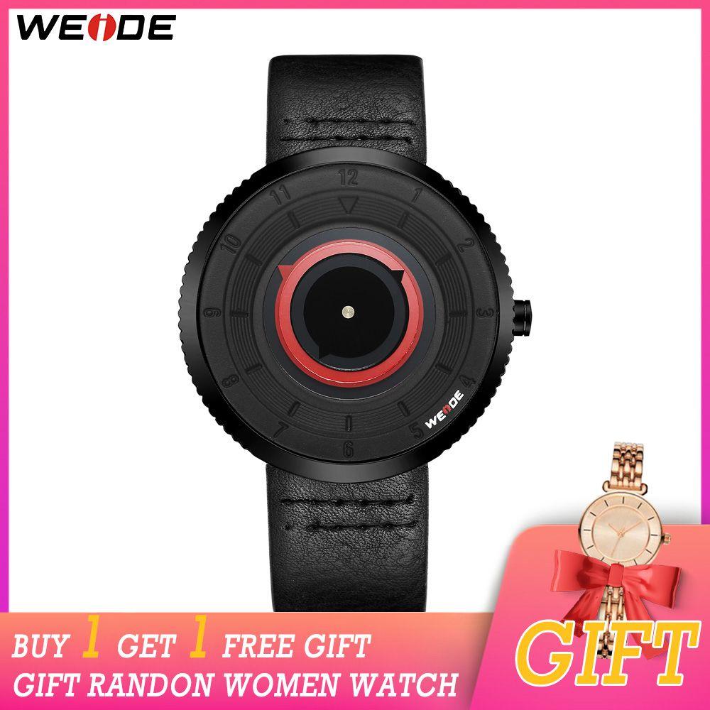 CWP 2021 Weide montres Weide Mouvement Weartz Menseurs de luxe Strap en cuir de luxe Horloge Relogio Masculino Femmes Montre acheter Obtenir un cadeau gratuit