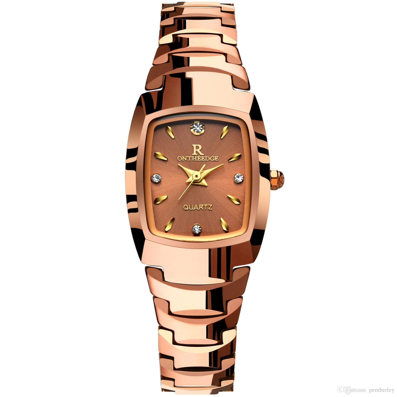 RZY005Ultra thin rose gold woman flower luxury watches nurse ladies dresses female Folding buckle wristwatch gifts for girls