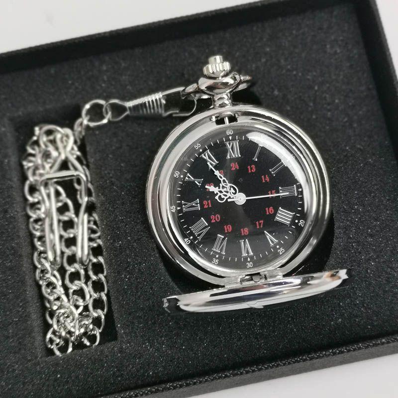 Классический серебро / бронза / черный / золото Польский Smooth кварцевые карманные часы сплава ювелирных изделий цепи ожерелье плетеный Man женщин подарков