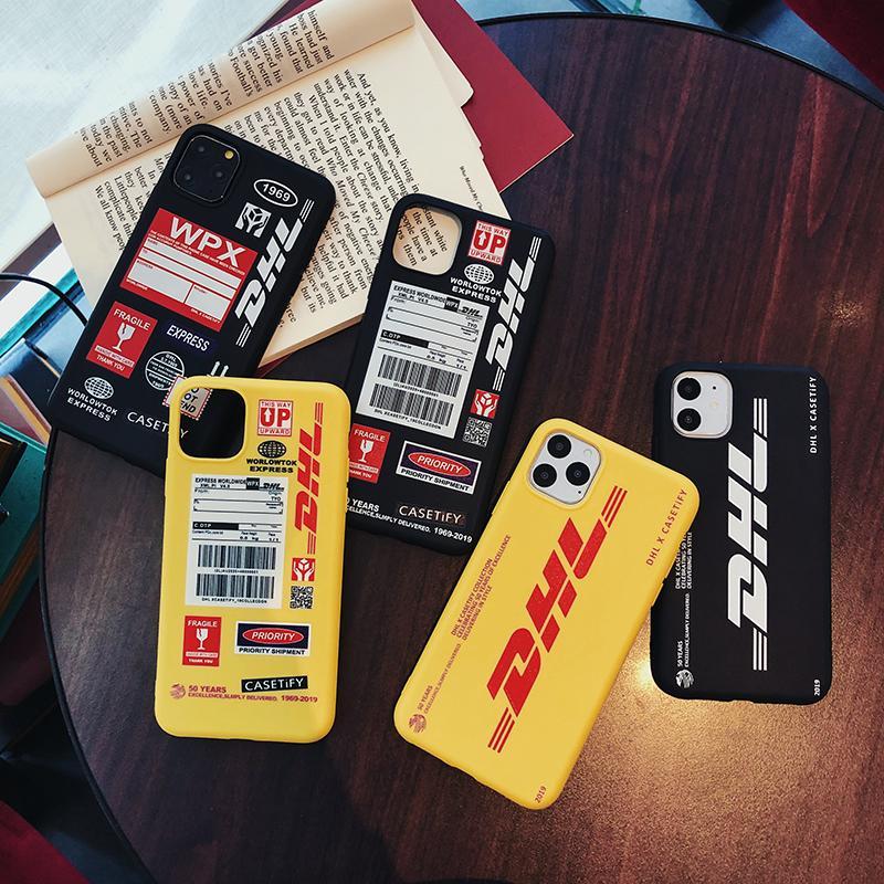 moda DHL caso molle per l'iphone 11 pro x xs max xr 8 7 6 6s più telefono copertura opaca in silicone coque del fumetto
