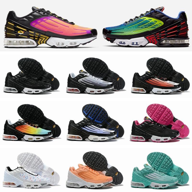 nike air max tn 3 plus New TN III plus 3 Chaussures de course pour les hommes des femmes des Chaussures Tuned Noir Blanc Orange Tns Ultra Baskets Baskets Chaussures