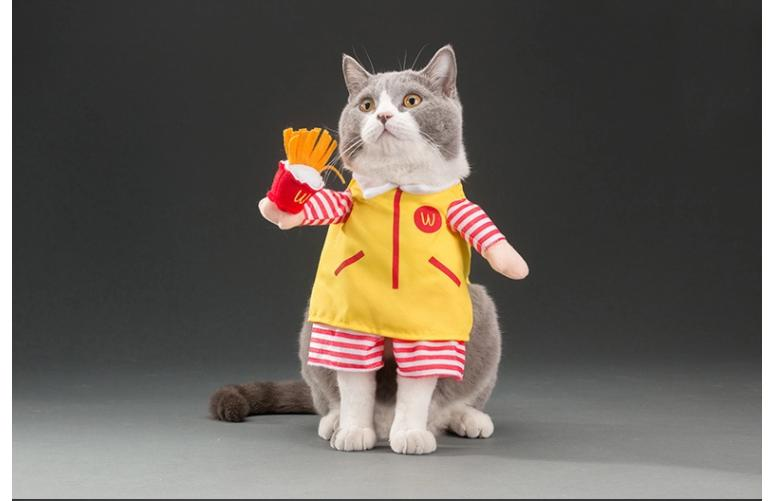 Hot Selling Cute Funny Cat Dog Pet Character Costume Halloween