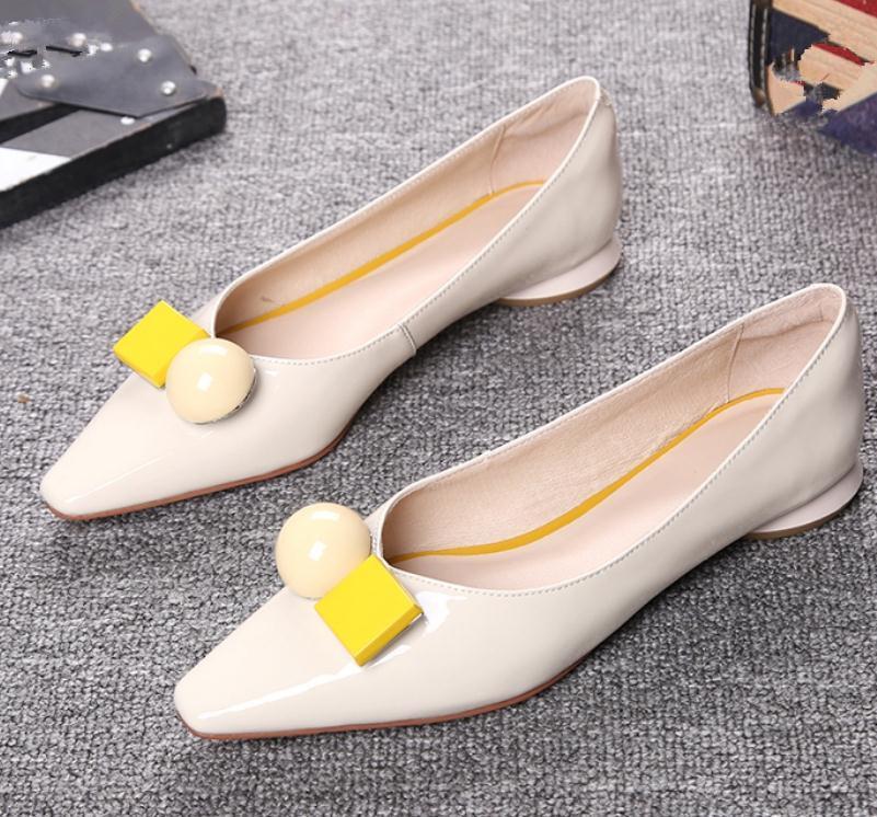 2020 весна и осень с новым стилем моды низкий каблук квадратная голова Женская обувь@MQWBH771