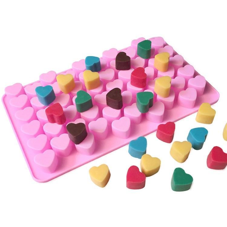 heiße Silicon Schokoladenformen Herzform Silikon-Kuchenform Silikon-Eisbehälter Gelee Formen Kuchen Backformen Küchen toolsT2I5768