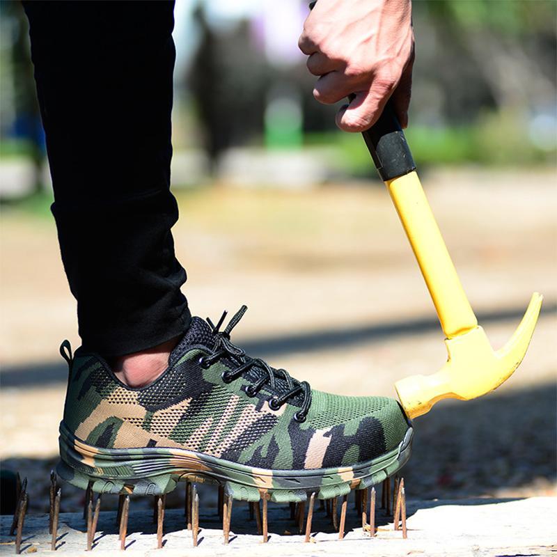 MAISMODA hommes travail Bottes de sécurité 2018 Plus Size Outdoor Steel Toe Cap Bottes camouflage armée Crevaison Preuve