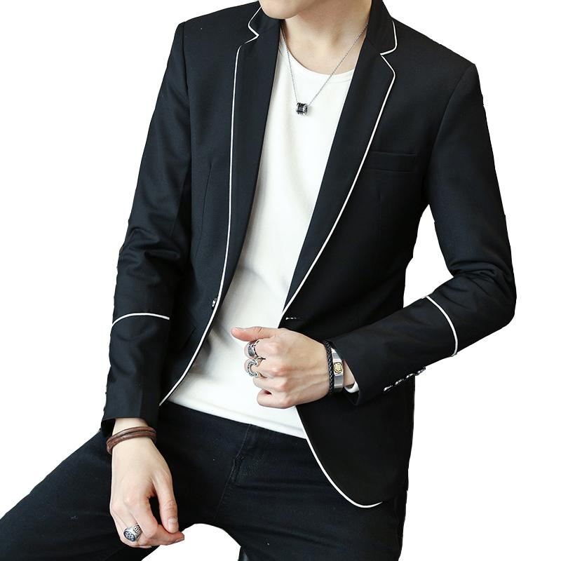 Mens Clothing Casual Blazers Suit Jacket Drop Shipping Slim Fit M-3XL White Wholesale Black Grey Male Solid Blazer