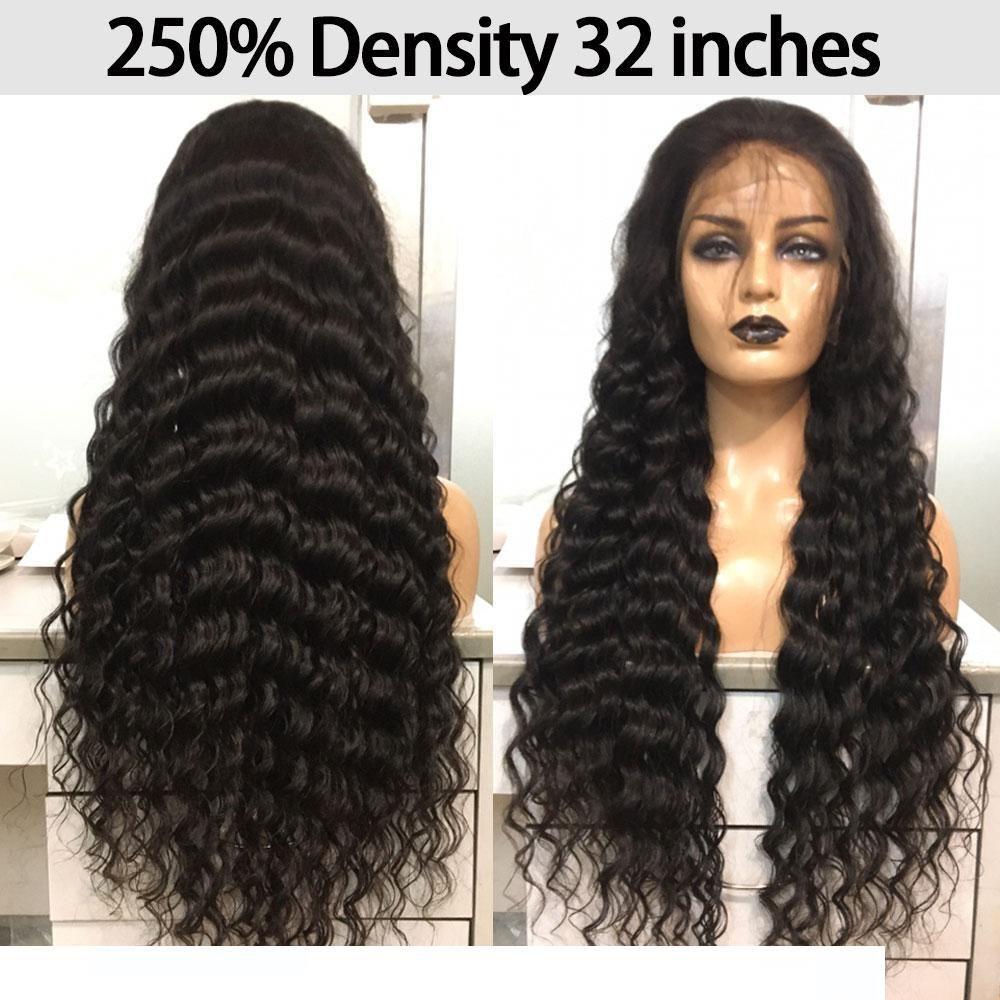 Pelucas de cabello humano de encaje completo Pre desplumado de 250 densidades con pelo de bebé pelucas de encaje transparentes peluca brasileña de onda suelta alguna vez belleza Remy
