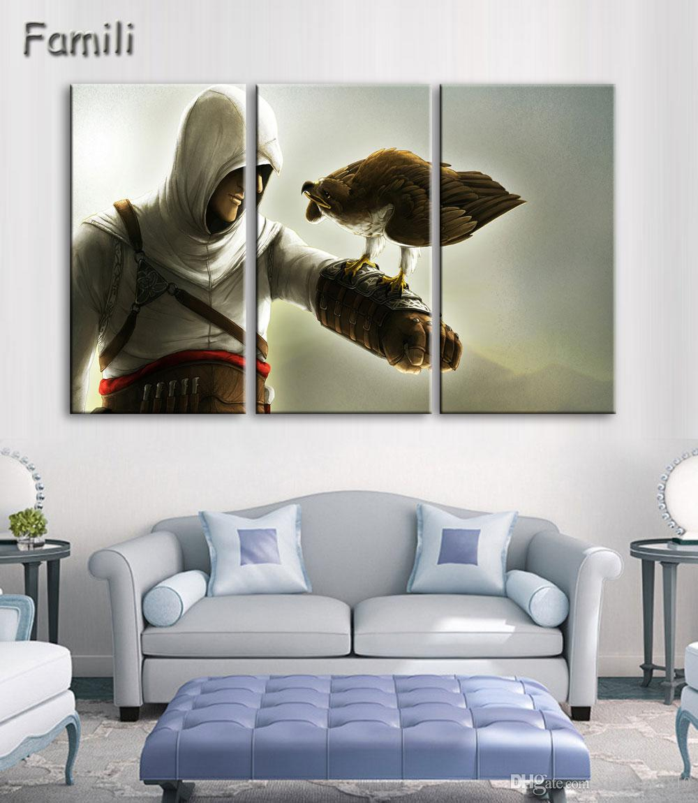 3 Pcs Hd Printed Assassin S Creed Painting Canvas Print Room Decor Print Poster Picture Canvas NO Framed With