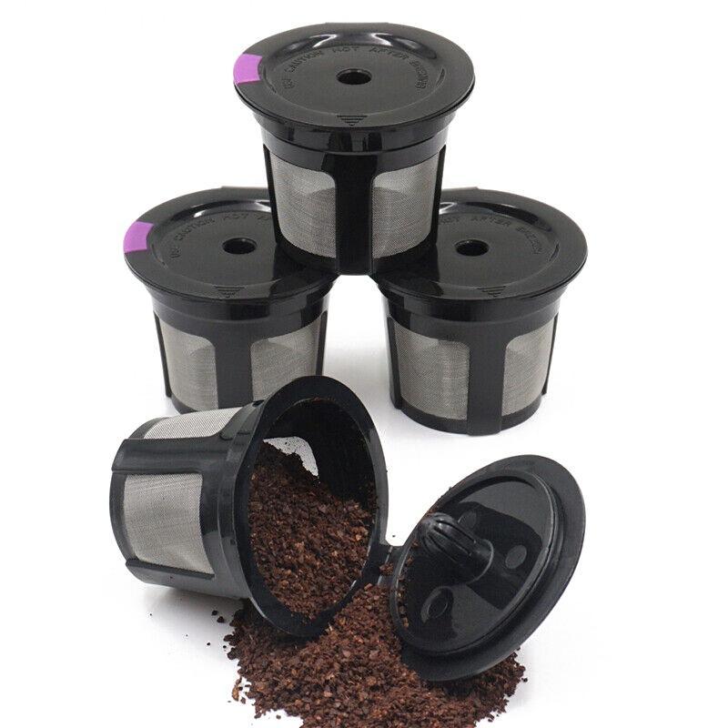 6PCS Cycle Répétition Coupe Filtre Dosettes Capsule Bean poudre Shell Remplacement du filtre Drinkware Pichet à eau Filtre cartouche