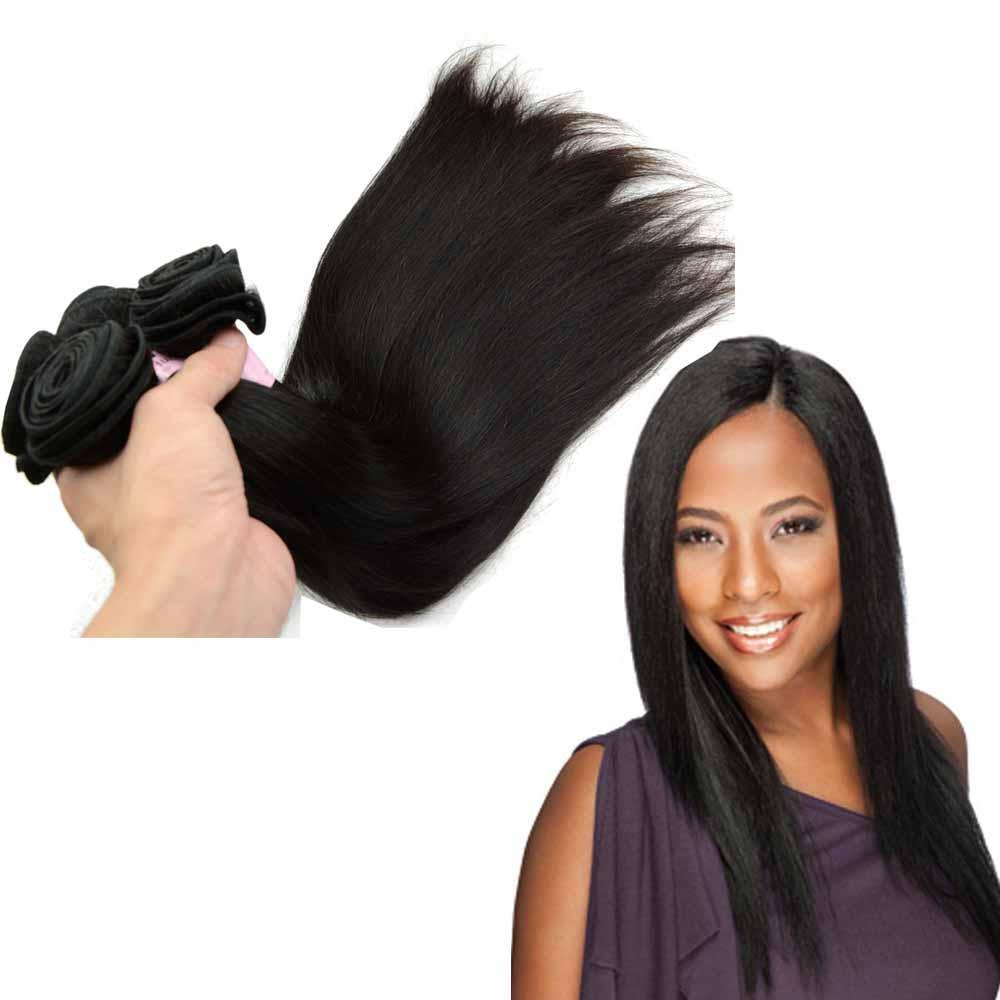 Tejido de cabello humano peruano recto 3 paquetes Grado 9A Natural Misma longitud de mezcla 3 piezas lote 10 pulgadas - 28 pulgadas gran stock Nice Salon Beauty