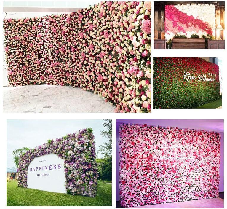 40x60cm индивидуальные цвета шелк роза цветок стены свадебные украшения фон искусственный цветок цветок стены романтический Свадебный декор