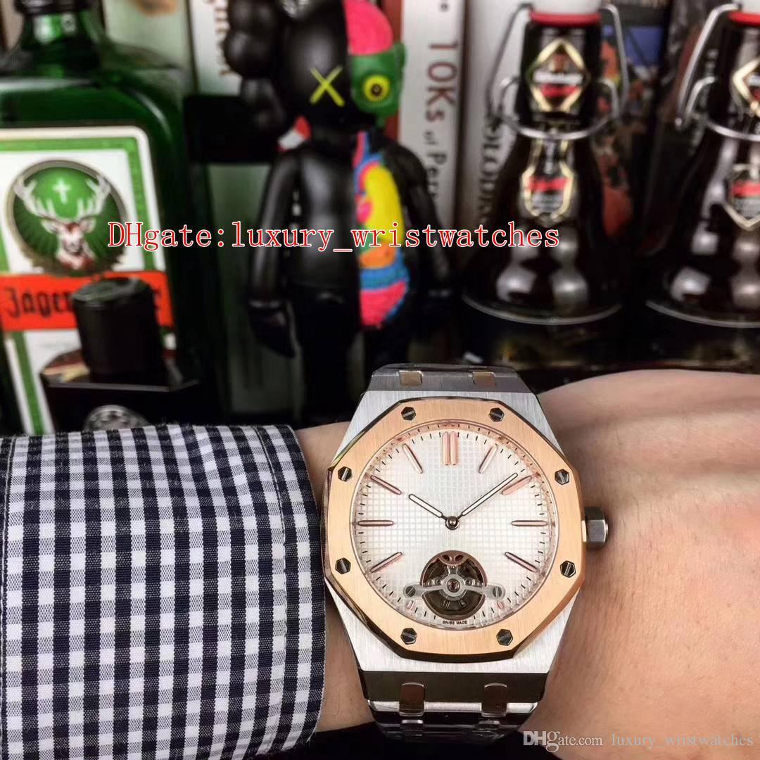 4 colores Excelente buenas fábrica de pulsera N8 reserva Oak Offshore Potencia 15400 44mm 18k de oro rosa mecánicos automáticos del reloj para hombre Relojes