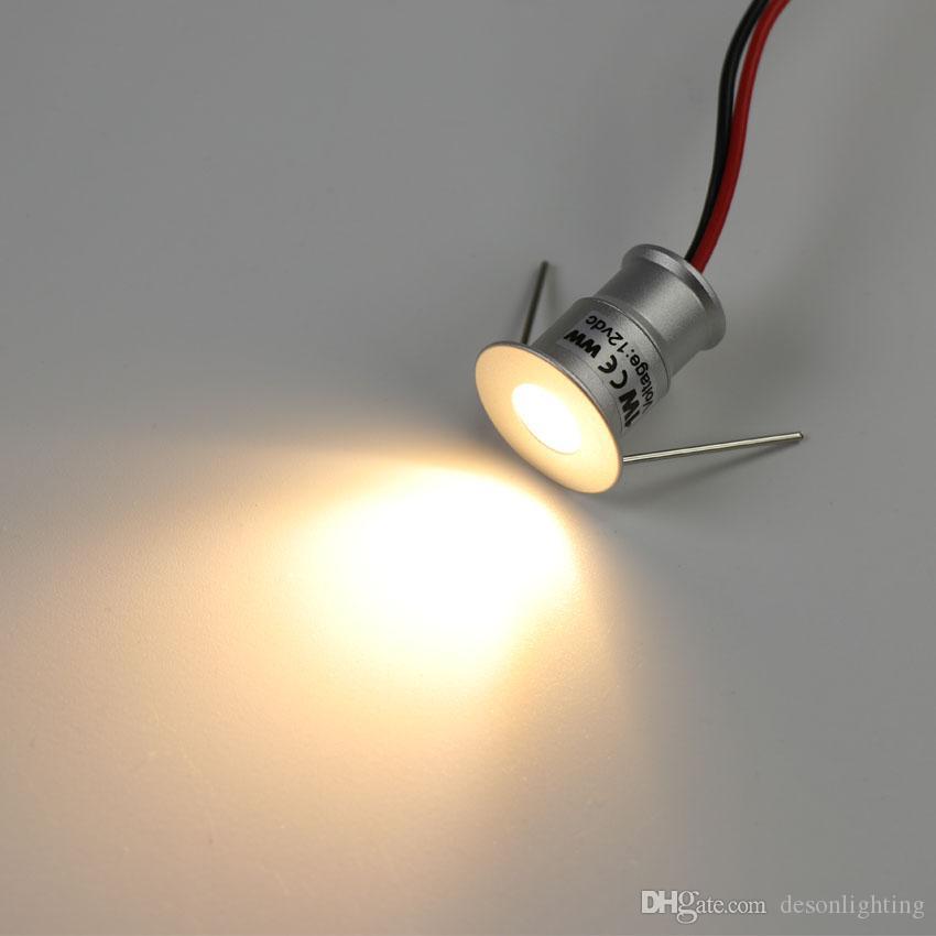 1W Mini LED encastré Spot de plafond Downlight plafon ampoule Spots de cuisine Plinth Cabinet escalier Étape mur lumière 12V lampe étanche Dimmable