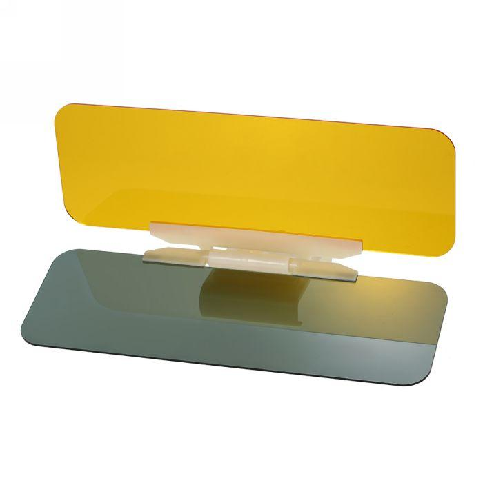 2 في 1 النافذة الأمامية سيارة الشمس قناع نظارات واقية ليلا ونهارا HD مكافحة انبهار مرآة ظلة بليد