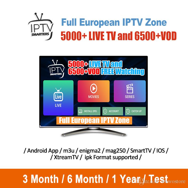 Europe IPTV With 1 Year Iptv Subscription 4000+ Live For