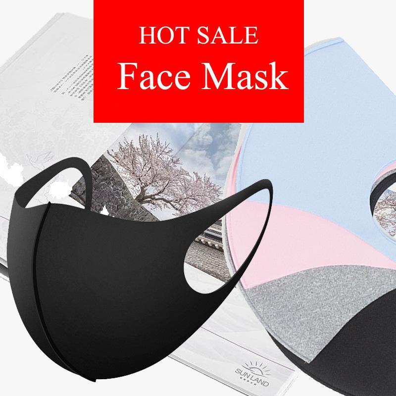 concepteur mode enfants masque facial face à des masques anti-poussière de soie glacée enfants adultes masque lavable anti-poussière fine masque facial respirant crème solaire