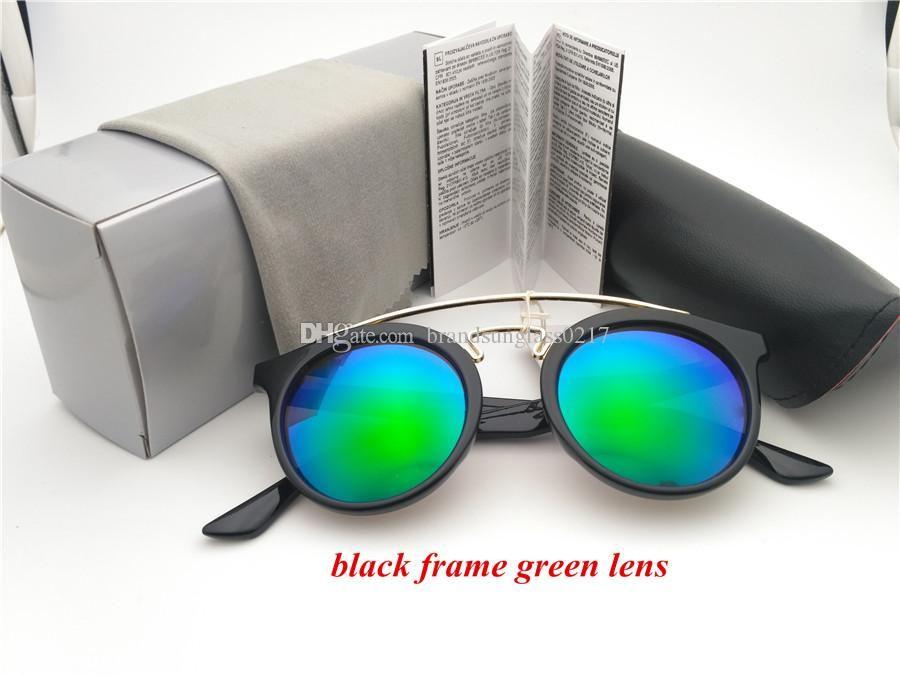 AAAAA + qualidade Nova Rodada Vintage óculos de sol Mulheres design marca homens de alta rua Steampunk Óculos uv400 oculos de sol com caixa caso