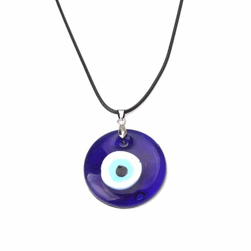 التركية عين الشر حماية العين الزرقاء زجاج محظوظ سحر قلادة قلادة للجنسين