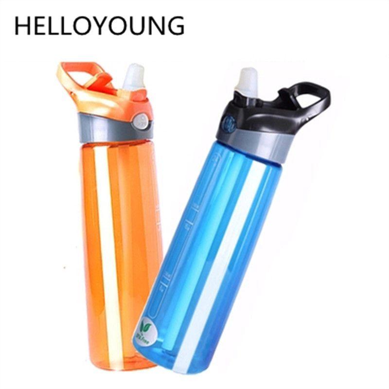 Garrafa amigável Água Saudável Adultos Alta Qualidade Sports coloridas BPA Plastic Straw Tipo Copos frasco com tampa nova promoção