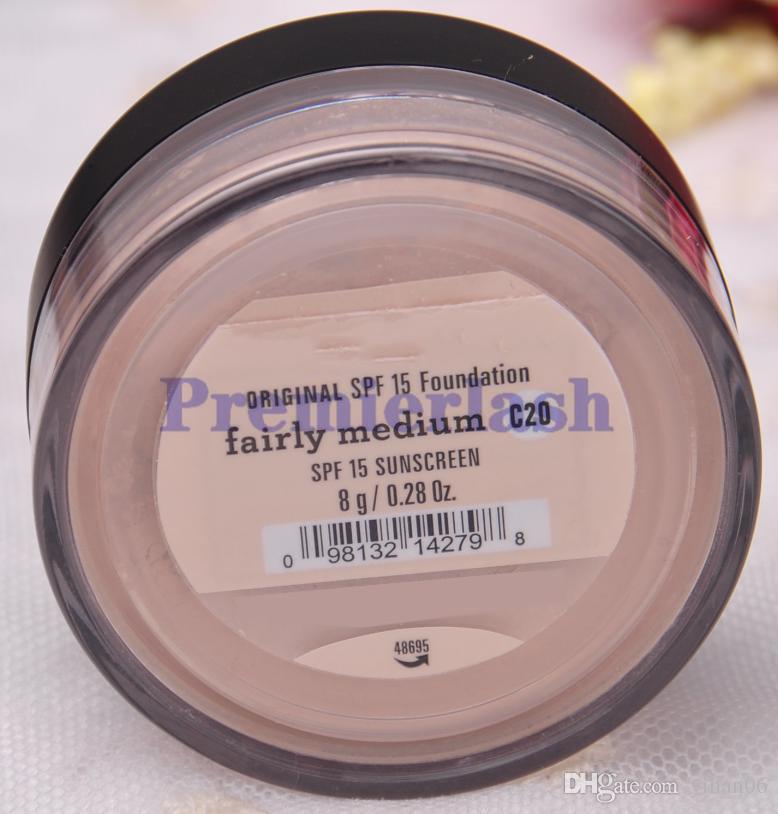 بودرة الأساس المعدنية الأصلية 8g C10 fair / 8g N10 خفيفة إلى حد ما / 8g C25 / 8g متوسطة البيج المتوسطة
