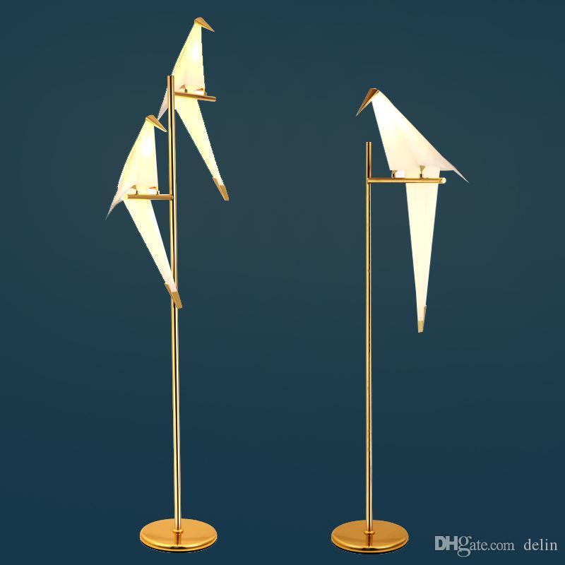 Mille carta lampada da terra gru decorazione Nordic creativo moderno lampada salotto minimalista camera da letto di studio degli uccelli