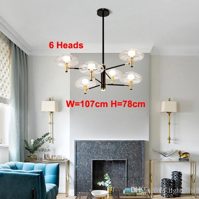 Nordic creativa lámpara de techo de cristal colgante moderna Iluminación colgante para vivir dormitorio comedor bar del club habitación