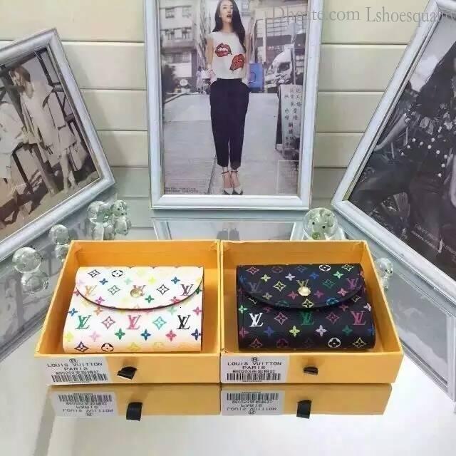 2019 M60253 New Womens Leather Wallet Purse Short Wallet Wallets Purse Mini Clutches Exotics Evening Chain Belt Bags