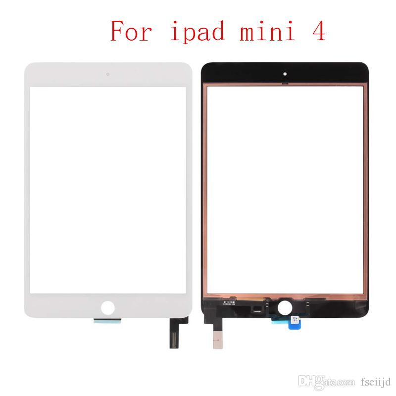 """40 PZ Per iPad Mini 4 4th Gen 7.9 """"A1538 A1550 Pannello touch screen digitalizzatore con connettore chip IC + adesivo"""