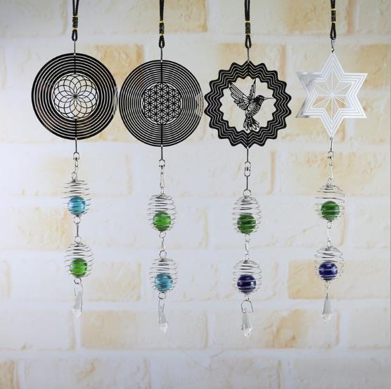 carillón de viento 317 de bricolaje retro carillón de viento que gira características creativas de metal novedad artesanales adornos colgantes de hogar