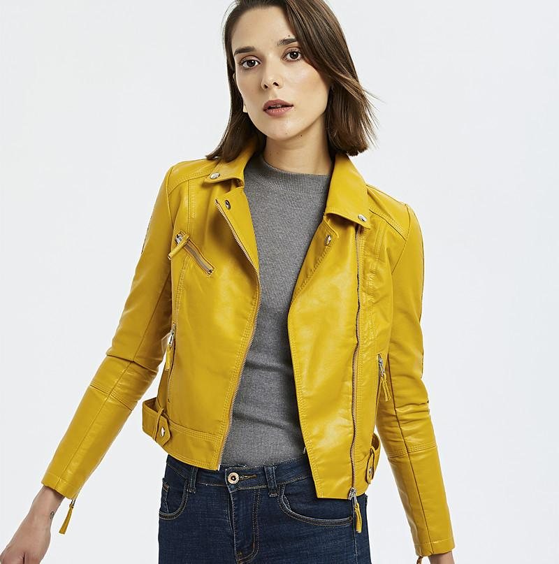 여성 클래식 모토 바이커 재킷 겨울 가을 여성 레드 기본 코트 플러스 사이즈 자켓 MODIS 느슨한 블랙 PU 가짜 가죽 자켓