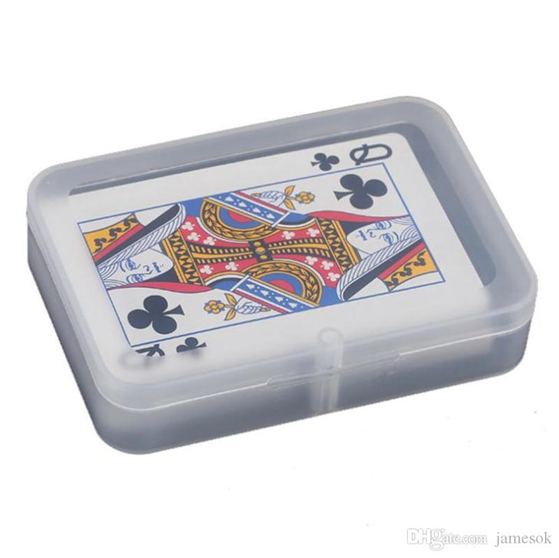 Прозрачный Playing Cards пластиковых коробки PP Ящиков для хранения упакованных (КАРТОЧКИ шириной менее 6 см) DA276