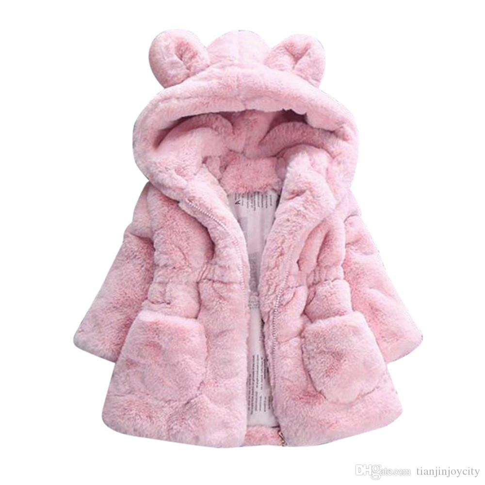 Baby Infant Girls Autumn Winter Hooded Coat Cloak Jacket Thick Warm Clothes KN