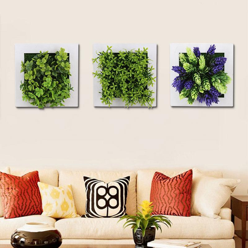 Office Home Decoration Artificial Flower Pastic Simulation 3D Plants Plant Photo Frame Pastic Flower Frames Emulation