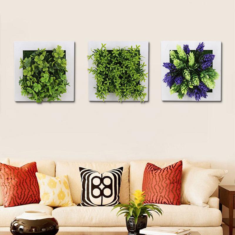 Office Home Dekoration Künstliche Blumen Pastic Simulation 3D-Pflanzen, Pflanze, Photo Frame Pastic Blumenrahmen Emulation