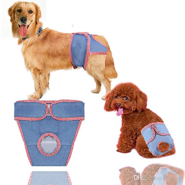 Female Dog Pet Diaper Washable Reusable Cartoon Pet Diaper Adjustable Physical bib Pant Sanitary Panties Nice Anti Harassment Pant Wholesale