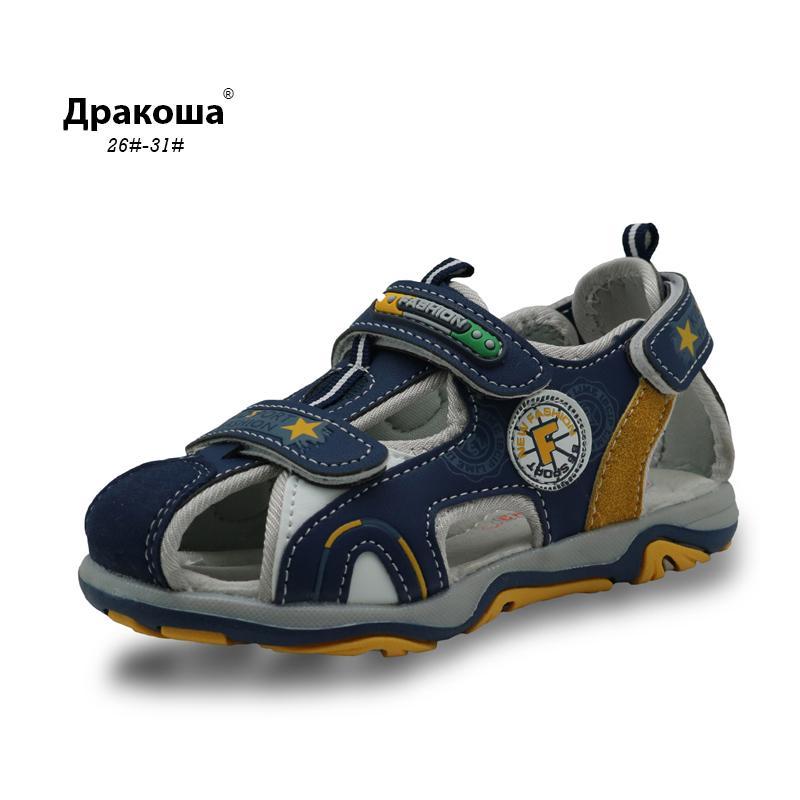 sandalias de punta cerrada Apakowa niños verano calzado del muchacho con la ayuda de arco sandalias de playa chicos deportivas para niños Y200404 deportes sandalias