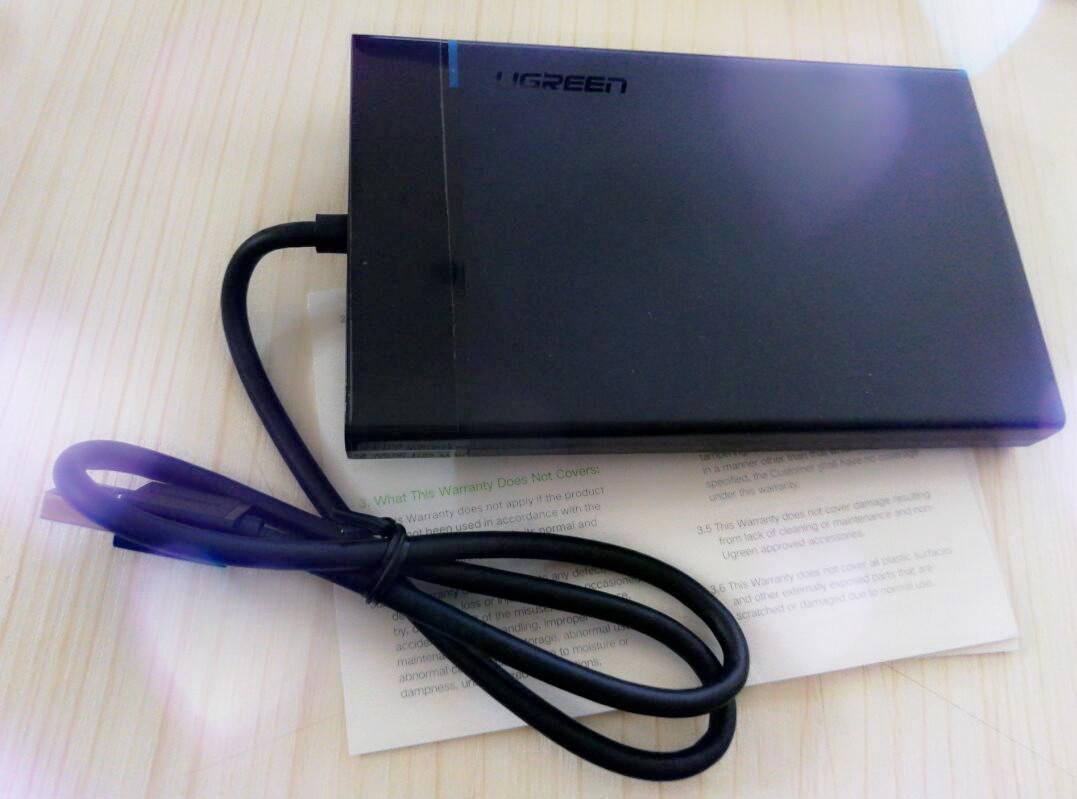10PCS/몫 Ugreen HDD 상자 2.5SSD 디스크 HDD 상자 상자 HD 외부 HDD 울안을 위한 USB3.0 접합기 하드드라이브 울안에 SATA