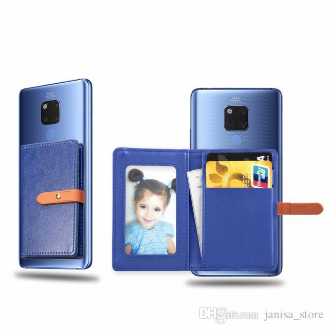 الجملة متعددة الوظائف جميع عالمي لون الحلوى مشبك بو الجلود بطاقة الائتمان الأعمال محفظة جيب الهاتف الخلفي